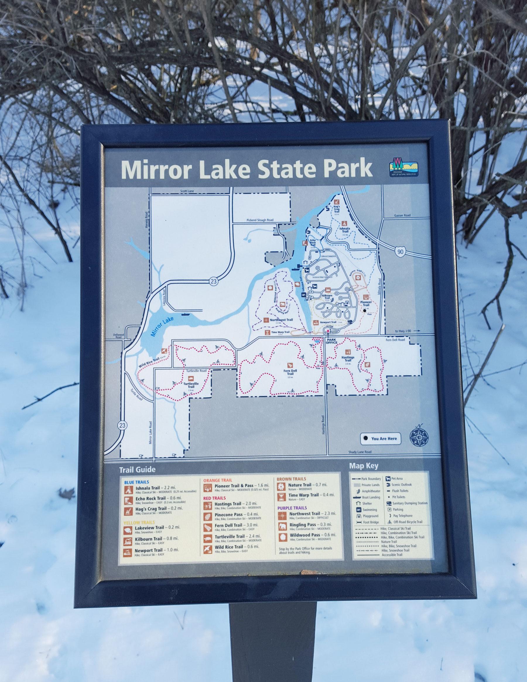 Mirror Lake State Park Map